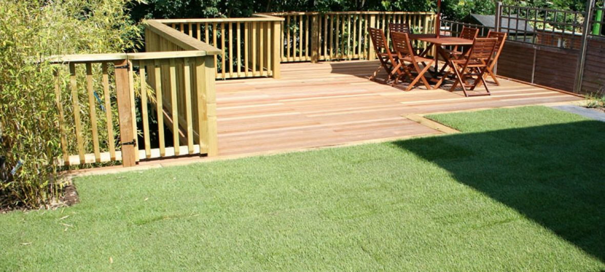 Raised deck terrace